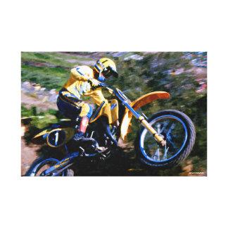 Abrigo de la lona del motocrós - marque a Barnett Impresiones En Lienzo Estiradas