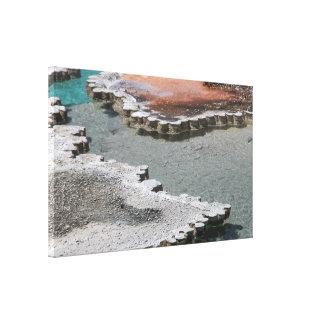 Abrigo de la lona: Depósitos minerales #1 de la pi Impresión En Tela