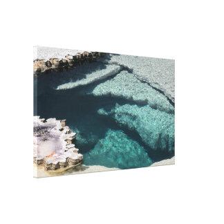 Abrigo de la lona: Depósitos minerales #2 de la pi Impresión En Lienzo Estirada