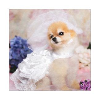 Abrigo de la lona - el boda de Bella Impresión En Lona Estirada
