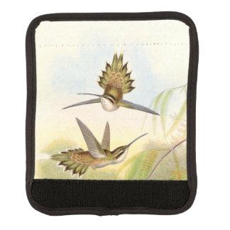 Abrigo de la manija del equipaje de los colibríes funda para asa de maleta