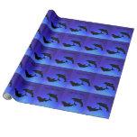 Abrigo de los delfínes del azul de océano papel de regalo