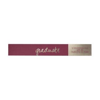 Abrigo de oro de la graduación del | alrededor del etiquetas para remite