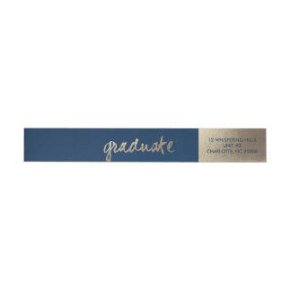 Abrigo de oro de la graduación del | alrededor del etiquetas postales