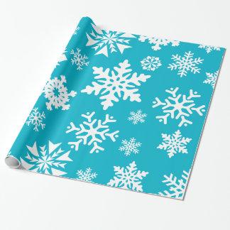 Abrigo de regalo de vacaciones azul del navidad de papel de regalo