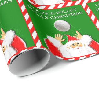 Abrigo de regalo de vacaciones del voleibol papel de regalo