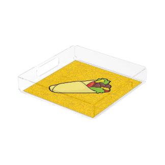 Abrigo del bocadillo de la tortilla bandeja cuadrada