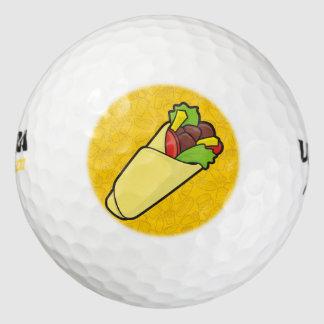 Abrigo del bocadillo de la tortilla pack de pelotas de golf