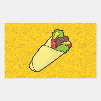 Abrigo del bocadillo de la tortilla pegatina rectangular