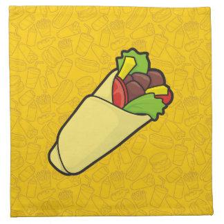 Abrigo del bocadillo de la tortilla servilletas