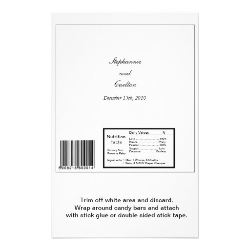 "Abrigo grande elegante de la barra de caramelo de  folleto 5.5"" x 8.5"""