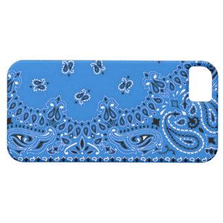 Abrigo occidental azul de la tela de la bufanda iPhone 5 Case-Mate protectores