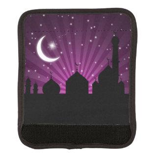 Abrigo púrpura de la manija del equipaje de la funda para asa de maleta