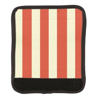 Abrigo rayado superior grande retro de la manija funda para asa de maleta