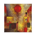 Abrigo rojo de la lona del globo de Paul Klee Lona Estirada Galerias