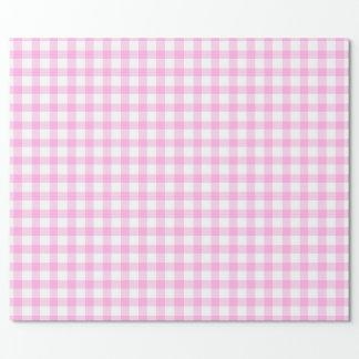 Abrigo rosado y blanco modelado de la guinga papel de regalo