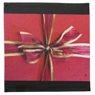Abrigo y arcos de regalo de vacaciones servilletas