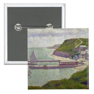Abrigúese en el Puerto-en-Bessin en la alta marea, Pin Cuadrado