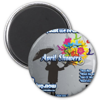 Abril-abril duchas imán redondo 5 cm