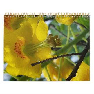 Abril de 2015 a marzo de 2016 una flor del color calendario de pared