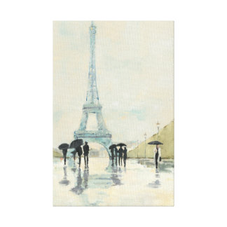 Abril en París Lona Envuelta Para Galerías