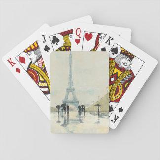 Abril en París Baraja De Póquer