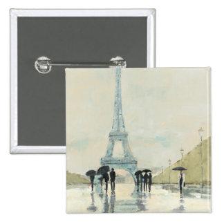 Abril en París Pin Cuadrado