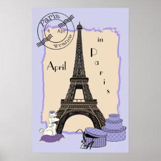 Abril en París Póster