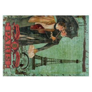 Abril en paseo de los amantes de París en tabla de Tabla De Cortar