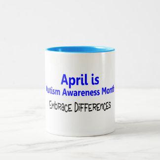 Abril es diferencia del abrazo del mes de la conci tazas