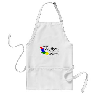 Abril es el mes de la conciencia del autismo (los  delantales