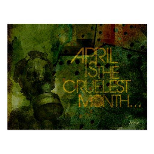 Abril es el mes más cruel postales