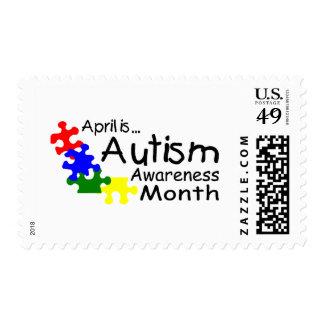 Abril es franqueo del mes de la conciencia del timbres postales