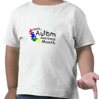 Abril es mes de la conciencia del autismo (los camiseta