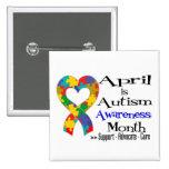 Abril es mes de la conciencia del autismo pins