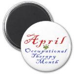 Abril es mes de la terapia profesional imán para frigorifico