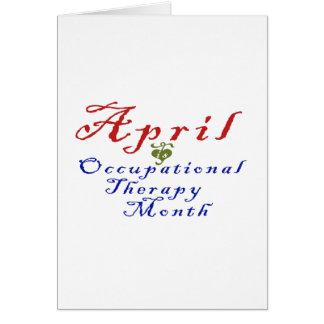 Abril es mes de la terapia profesional tarjeta de felicitación