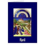 Abril - la baya de Tres Riches Heures du Duc de Felicitacion