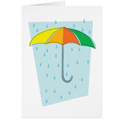 Abril riega el paraguas tarjetas