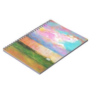 Abril riega la pintura de casa abstracta del note book