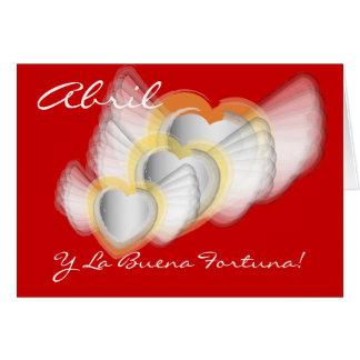 """Abril Y la Buena Fortuna!""-Customize Card"