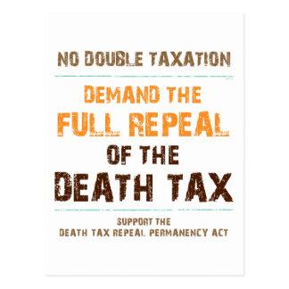 Abrogue el impuesto de muerte postales