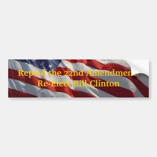 ¡Abrogue la 22da enmienda! Etiqueta De Parachoque