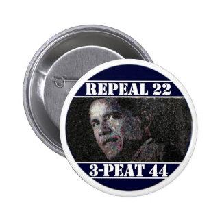 Abrogue la 22da enmienda pin redondo de 2 pulgadas