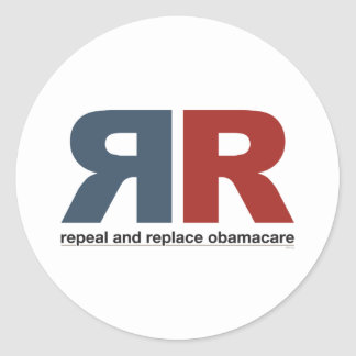 Abrogue y substituya Obamacare Pegatina Redonda