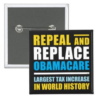 Abrogue y substituya Obamacare Pin Cuadrada 5 Cm