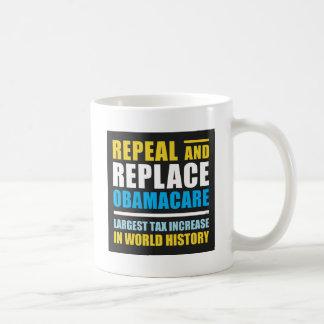 Abrogue y substituya Obamacare Tazas De Café