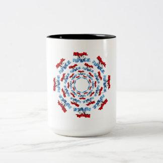 Abrogue y substituya taza de café