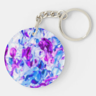abrstract sm.jpg blanco azul púrpura del coleo llavero redondo acrílico a doble cara