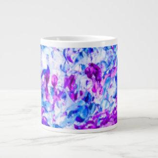 abrstract sm.jpg blanco azul púrpura del coleo taza grande